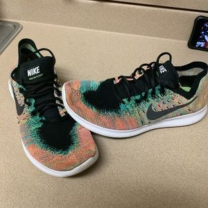 Men's Nike Free Run Flyknit multi color